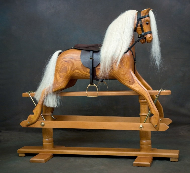 Traditional wooden rocking horses by ringinglow