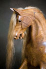 Traditional Wooden Rocking Horse head detail from The Ringinglow Rocking Horse Company