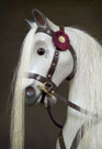 Dapple Grey Rivelin Rocking Horse Head Detail from The Ringinglow Rocking Horse Company