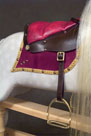 Rivelin rocking horse fixed leather saddle from The Ringinglow Rocking Horse Company