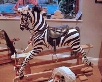 The Rocking Zebra by Ringinglow Rocking Horse Company