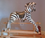 Traditional Wooden Rocking Horse Zebra from The Ringinglow Rocking Horse Company